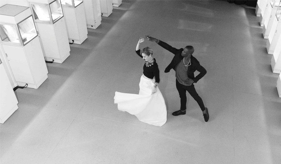 Lisa and Marlon dancing